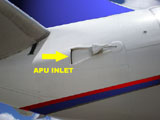 APU Inlet- location of air flow into the APU