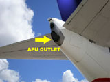 APU Outlet- location of exhaust air from the APU