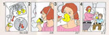 Oxygen Mask Safety Instructions with female demonstrations