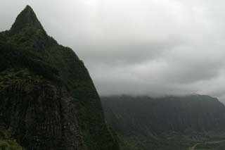 view from the pali lookout, Hawaii